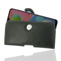 Leather Horizontal Pouch Case with Belt Clip for Samsung Galaxy A70s
