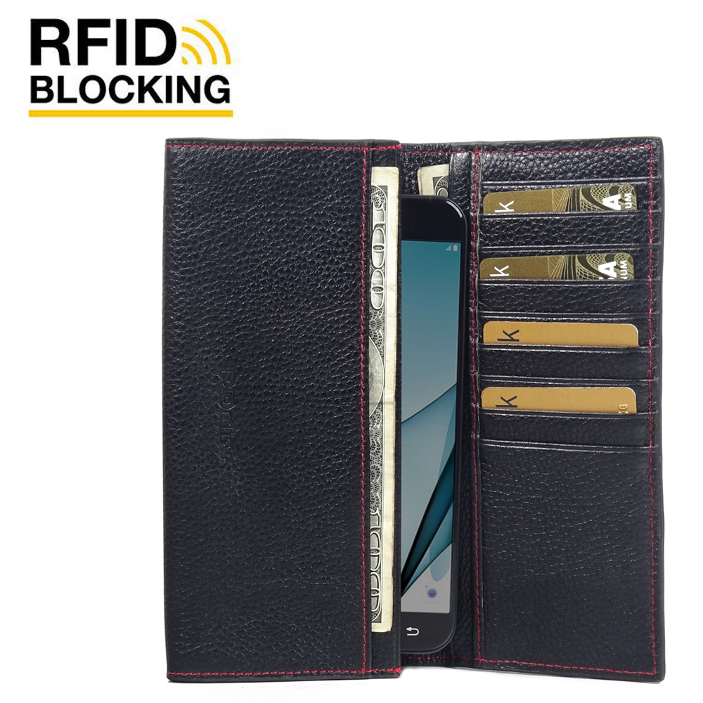10% OFF + FREE SHIPPING, Buy PDair Handmade Protective Samsung Galaxy A8 (2016) Genuine Leather Continental Sleeve Wallet (Red Stitching)  You also can go to the customizer to create your own stylish leather case if looking for additional colors, patterns