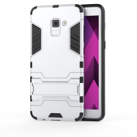 Samsung Galaxy A8 Plus (2018) Tough Armor Protective Case (Silver)