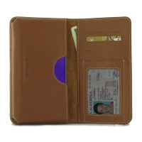 Leather Card Wallet for Samsung Galaxy A9 (2018) (Brown)