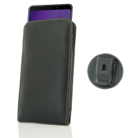 Leather Vertical Pouch Belt Clip Case for Samsung Galaxy A9 (2018)