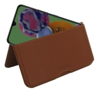 Leather Wallet Pouch for Samsung Galaxy A90 5G (Brown)