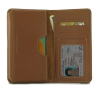 Leather Card Wallet for Samsung Galaxy A90 5G (Brown)
