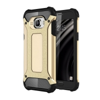 Hybrid Dual Layer Tough Armor Protective Case for Samsung Galaxy C5 (Gold)