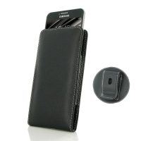 Leather Vertical Pouch Belt Clip Case for Samsung Galaxy C5