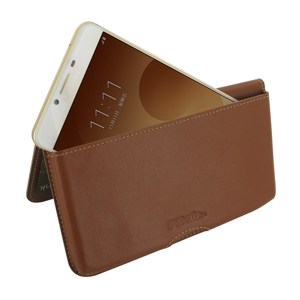 10% OFF + FREE SHIPPING, Buy Best PDair Quality Handmade Protective Samsung Galaxy C9 Pro Genuine Leather Wallet Pouch Case (Brown) online. You also can go to the customizer to create your own stylish leather case if looking for additional colors, pattern