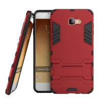 Samsung Galaxy C9 Pro Tough Armor Protective Case (Red)