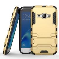 Samsung Galaxy J1 (2016) Tough Armor Protective Case (Gold)