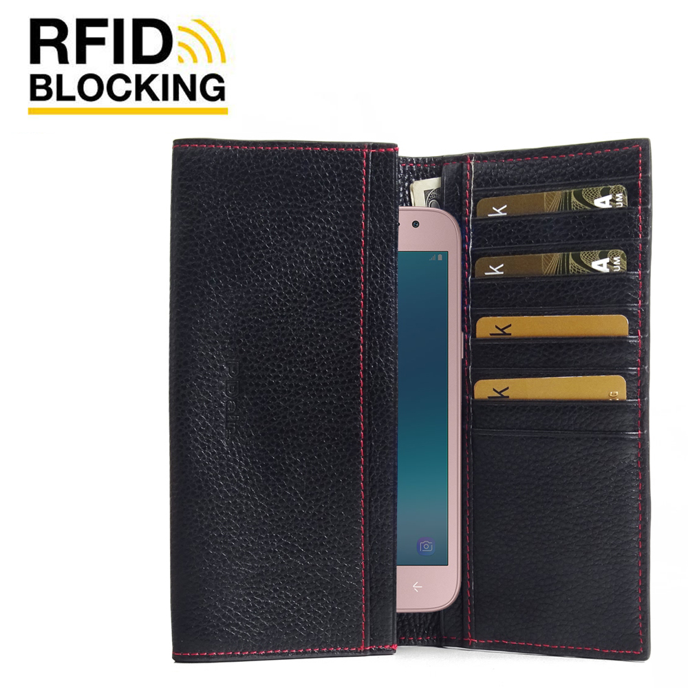 10% OFF + FREE SHIPPING, Buy the BEST PDair Handcrafted Premium Protective Carrying Samsung Galaxy J2 Pro (2018) Leather Continental Sleeve Wallet (Red Stitching). Exquisitely designed engineered for Samsung Galaxy J2 Pro (2018).