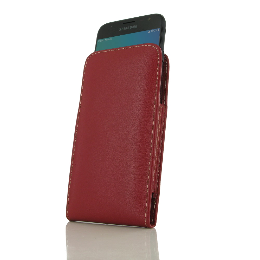 10% OFF + FREE SHIPPING, Buy Best PDair Handmade Protective Samsung Galaxy J3 (2017) Leather Sleeve Pouch Case (Red). Pouch Sleeve Holster Wallet You also can go to the customizer to create your own stylish leather case if looking for additional colors, p