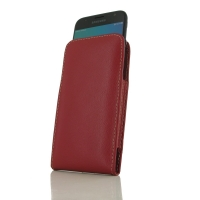 Leather Vertical Pouch Case for Samsung Galaxy J3 (2017) (Red)