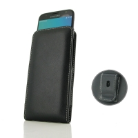 Leather Vertical Pouch Belt Clip Case for Samsung Galaxy J3 (2017)