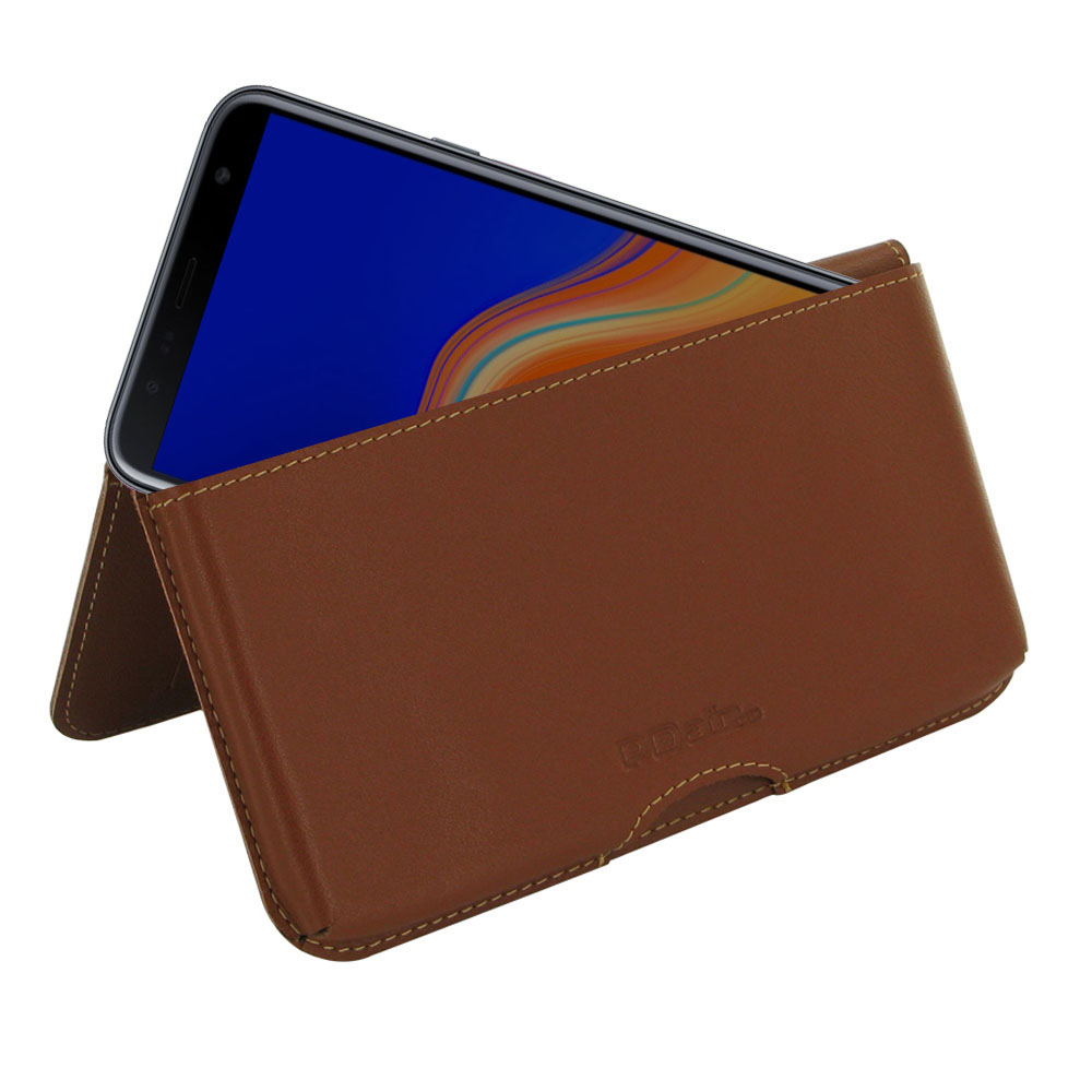 10% OFF + FREE SHIPPING, Buy the BEST PDair Handcrafted Premium Protective Carrying Samsung Galaxy J4+ | J4 Plus Leather Wallet Pouch Case (Brown). Exquisitely designed engineered for Samsung Galaxy J4+ | J4 Plus.
