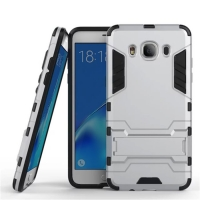 Samsung Galaxy J5 (2016) Tough Armor Protective Case (Silver)