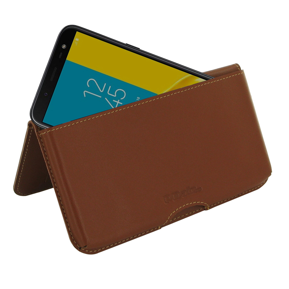 10% OFF + FREE SHIPPING, Buy the BEST PDair Handcrafted Premium Protective Carrying Samsung Galaxy J6 Leather Wallet Pouch Case (Brown). Exquisitely designed engineered for Samsung Galaxy J6.