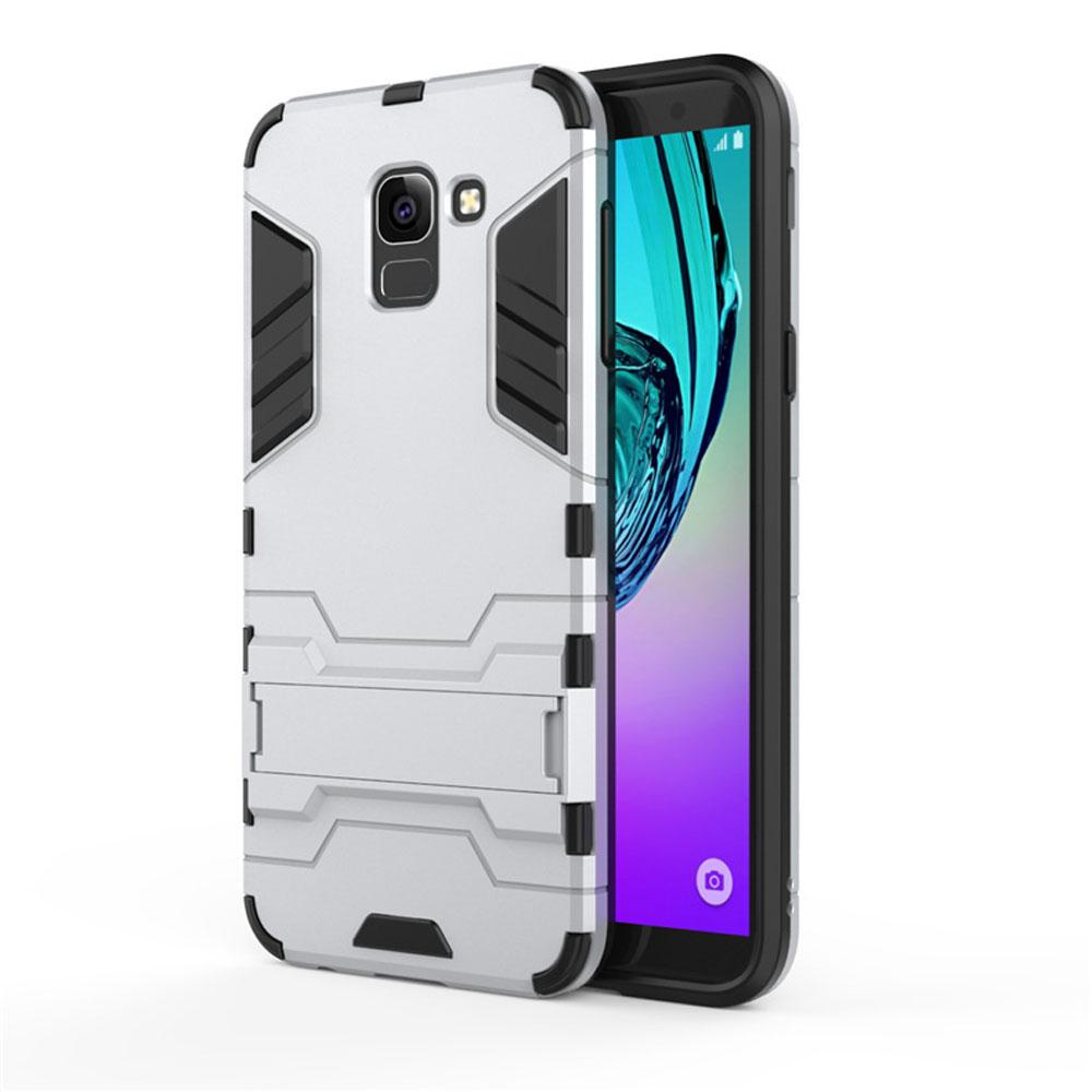 newest d4773 e441f Samsung Galaxy J6 Tough Armor Protective Case (Silver)