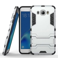 Samsung Galaxy J7 (2016) Tough Armor Protective Case (Silver)
