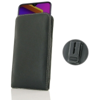 Leather Vertical Pouch Belt Clip Case for Samsung Galaxy M10s
