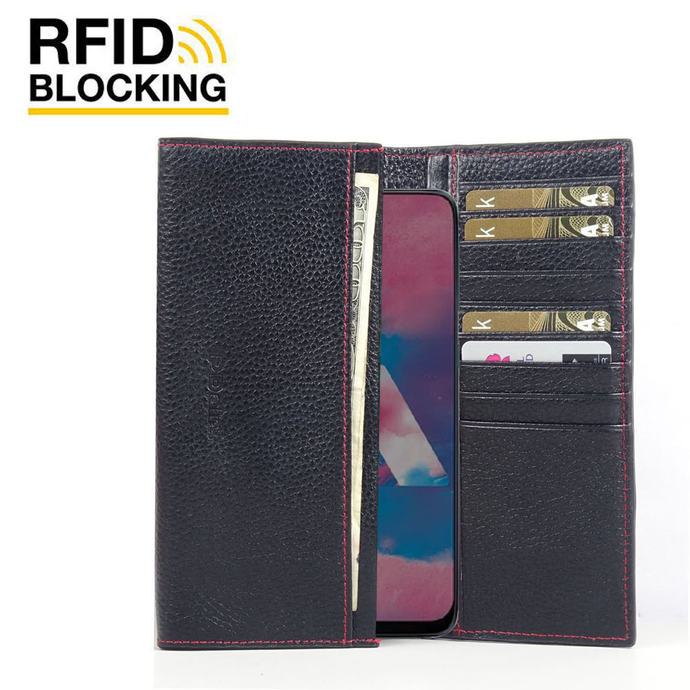 10% OFF + FREE SHIPPING, Buy the BEST PDair Handcrafted Premium Protective Carrying Samsung Galaxy M30 Leather Continental Sleeve Wallet (Red Stitching). Exquisitely designed engineered for Samsung Galaxy M30.