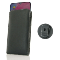 Leather Vertical Pouch Belt Clip Case for Samsung Galaxy M30