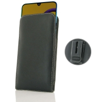 Leather Vertical Pouch Belt Clip Case for Samsung Galaxy M30s
