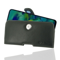 Leather Horizontal Pouch Case with Belt Clip for Samsung Galaxy M40