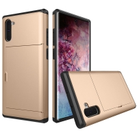 Armor Protective Case with Card Slot for Samsung Galaxy Note 10 5G (Gold)