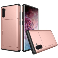Armor Protective Case with Card Slot for Samsung Galaxy Note 10 5G (Rose Gold)