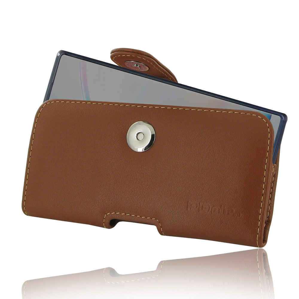 Samsung Galaxy Note 10 5G (in Slim Cover) Holster Case (Brown) is specially custom designed for the device in slim skin case, cover or bumper. It allows you to carry your device on belt easily. You can remove your device anytime by the opening at the bott