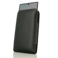 Leather Vertical Pouch Case for Samsung Galaxy Note 10 5G ( Compatible with 1.0 mm Slim Case / Cover on )
