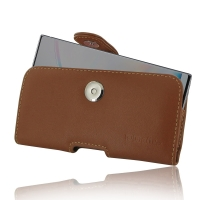 Leather Horizontal Pouch Case with Belt Clip for Samsung Galaxy Note 10 5G (Brown)