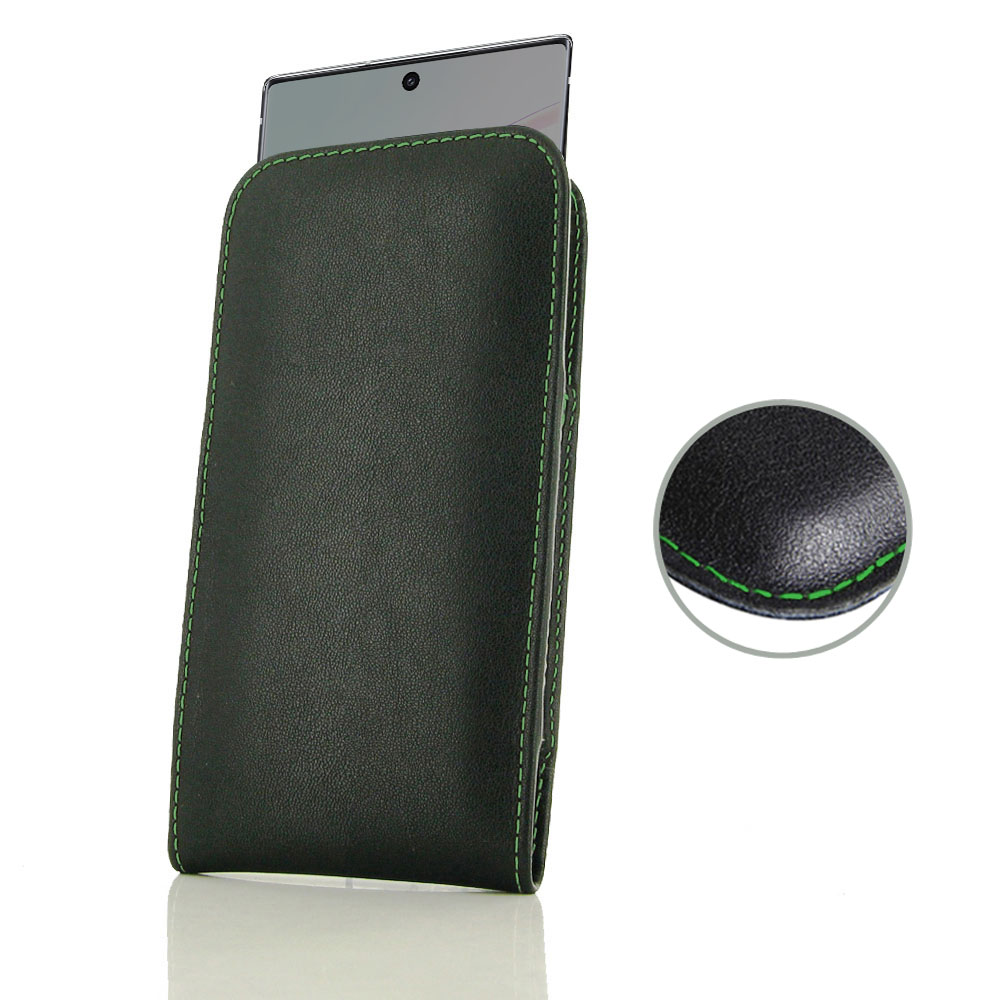 10% OFF + FREE SHIPPING, Buy the BEST PDair Handcrafted Premium Protective Carrying Samsung Galaxy Note 10 5G Leather Sleeve Pouch Case (Green Stitch). Exquisitely designed engineered for Samsung Galaxy Note 10 5G.