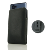 Leather Vertical Pouch Belt Clip Case for Samsung Galaxy Note 10 5G (in Large Size Armor Protective Case Cover)