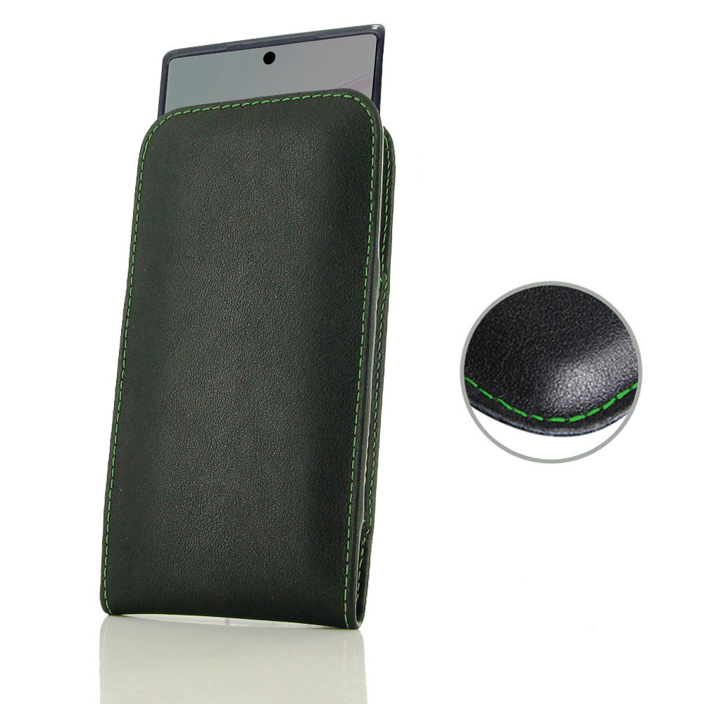 10% OFF + FREE SHIPPING, Buy the BEST PDair Handcrafted Premium Protective Carrying Samsung Galaxy Note 10  (in Slim Cover) Pouch Case (Green Stitch). Exquisitely designed engineered for Samsung Galaxy Note 10 .
