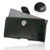 Leather Horizontal Pouch Case with Belt Clip for Samsung Galaxy Note 10 (Green Stitch)