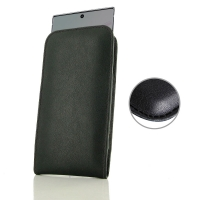 Leather Vertical Pouch Case for Samsung Galaxy Note 10 (Black Stitch)