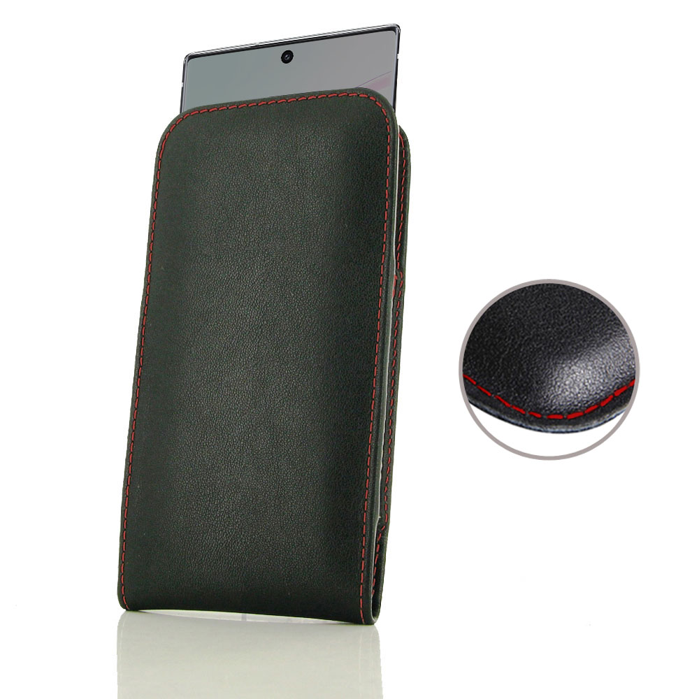 10% OFF + FREE SHIPPING, Buy the BEST PDair Handcrafted Premium Protective Carrying Samsung Galaxy Note 10  Leather Sleeve Pouch Case (Red Stitch). Exquisitely designed engineered for Samsung Galaxy Note 10 .