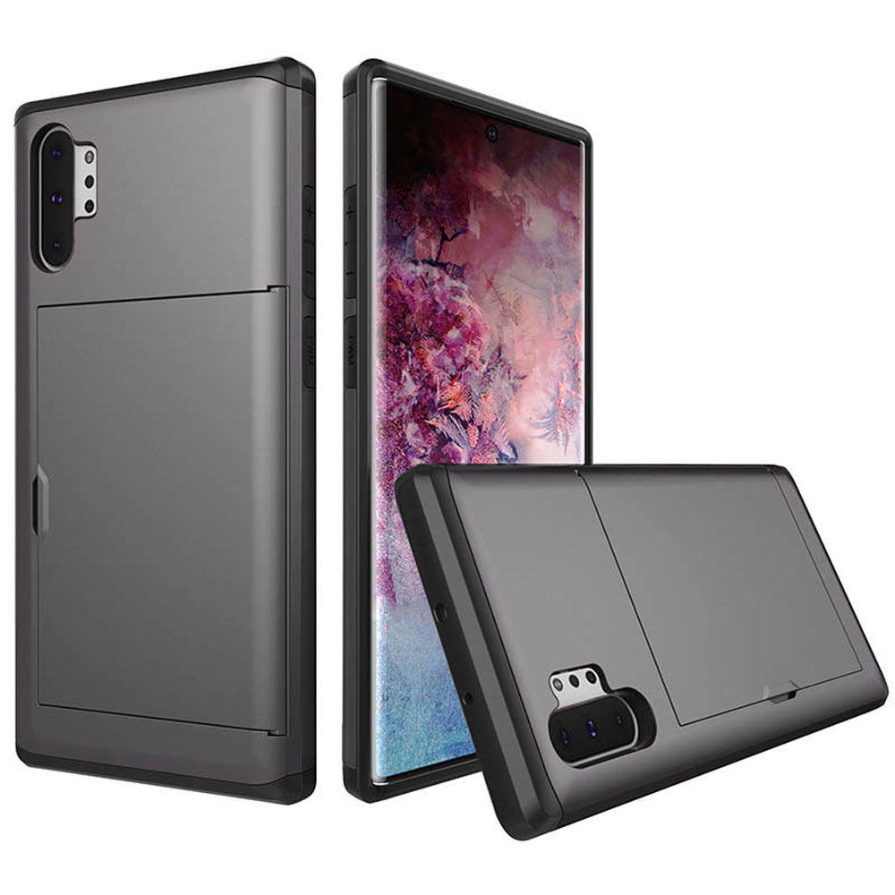 10% OFF + FREE SHIPPING, Buy the BEST PDair Premium Protective Carrying Samsung Galaxy Note 10 Plus 5G  Armor Protective Case with Card Slot (Grey). Exquisitely designed engineered for Samsung Galaxy Note 10 Plus 5G .