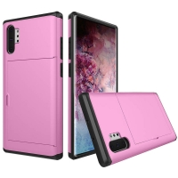 Armor Protective Case with Card Slot for Samsung Galaxy Note 10 Plus 5G | Samsung Galaxy Note10+ 5G (Petal Pink)