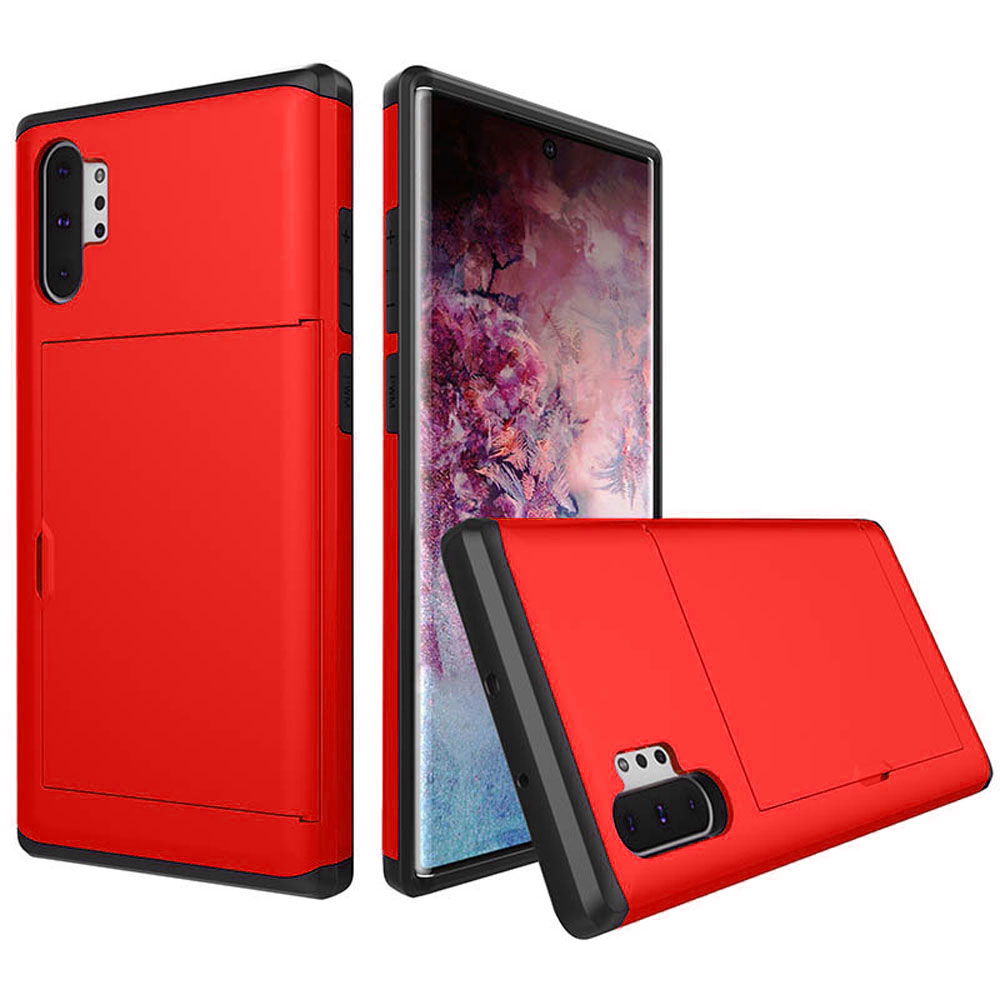 10% OFF + FREE SHIPPING, Buy the BEST PDair Premium Protective Carrying Samsung Galaxy Note 10 Plus 5G  Armor Protective Case with Card Slot (Red). Exquisitely designed engineered for Samsung Galaxy Note 10 Plus 5G .