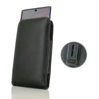 Leather Vertical Pouch Belt Clip Case for Samsung Galaxy Note 10 Plus 5G | Samsung Galaxy Note10+ 5G ( Compatible with 1.0 mm Slim Case / Cover on )