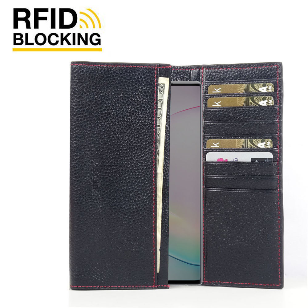 10% OFF + FREE SHIPPING, Buy the BEST PDair Handcrafted Premium Protective Carrying Samsung Galaxy Note 10 Plus 5G Leather Continental Sleeve Wallet (Red Stitching). Exquisitely designed engineered for Samsung Galaxy Note 10 Plus 5G.