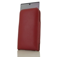 Leather Vertical Pouch Case for Samsung Galaxy Note 10 Plus 5G | Samsung Galaxy Note10+ 5G (Red)