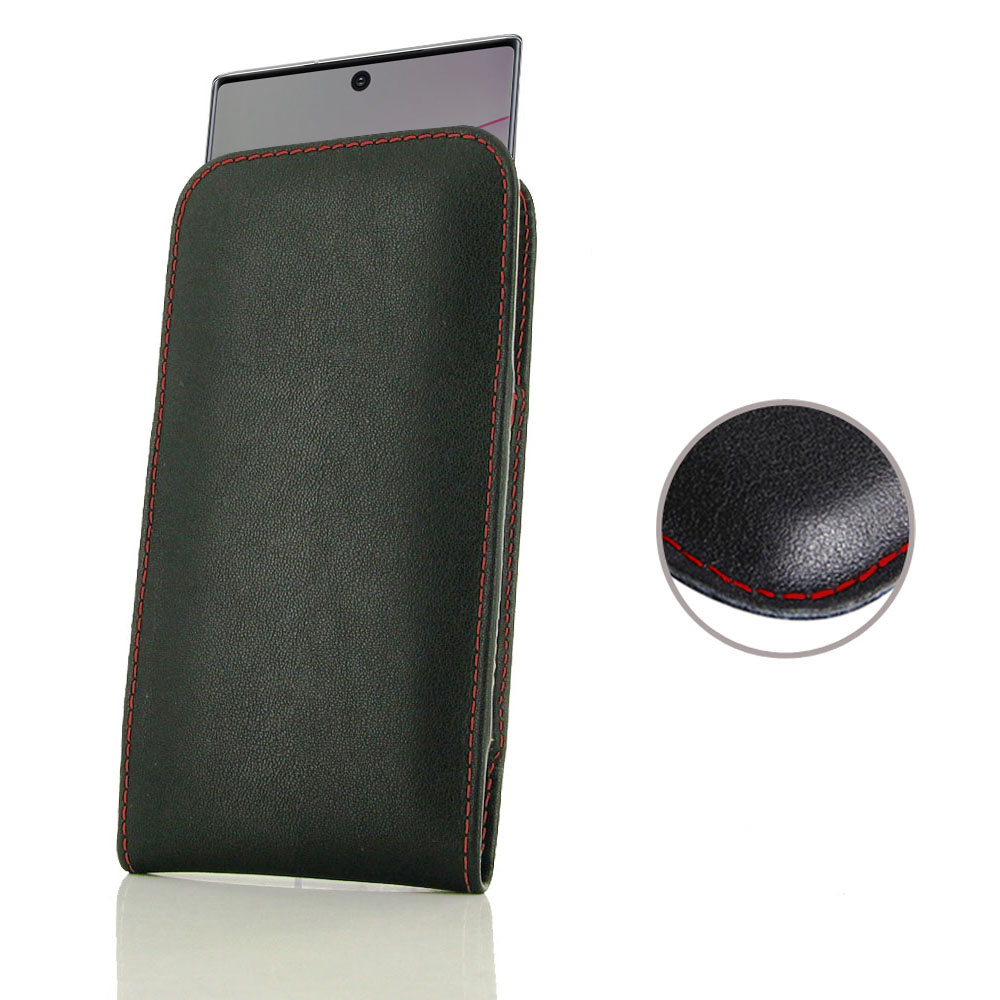 10% OFF + FREE SHIPPING, Buy the BEST PDair Handcrafted Premium Protective Carrying Samsung Galaxy Note 10 Plus 5G Leather Sleeve Pouch Case (Red Stitch). Exquisitely designed engineered for Samsung Galaxy Note 10 Plus 5G.