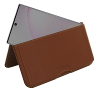 Leather Wallet Pouch for Samsung Galaxy Note 10 Plus 5G | Samsung Galaxy Note10+ 5G (Brown)