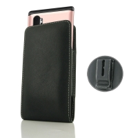 Leather Vertical Pouch Belt Clip Case for Samsung Galaxy Note 10 Plus 5G | Samsung Galaxy Note10+ 5G (in Large Size Armor Protective Case Cover)