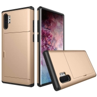 Armor Protective Case with Card Slot for Samsung Galaxy Note 10 Plus | Samsung Note 10+ (Gold)