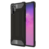 Hybrid Dual Layer Tough Armor Protective Case for Samsung Galaxy Note 10 Plus | Samsung Note 10+ (Black)