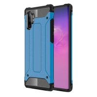 Hybrid Dual Layer Tough Armor Protective Case for Samsung Galaxy Note 10 Plus | Samsung Note 10+ (blue)