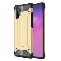 Hybrid Dual Layer Tough Armor Protective Case for Samsung Galaxy Note 10 Plus | Samsung Note 10+ (Gold)